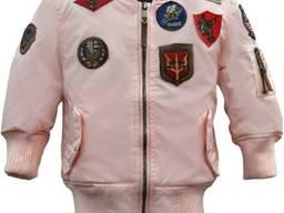 Детский бомбер Top Gun Kids MA-1 Aviator Bomber (розовый)