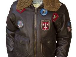 Детский бомбер Top Gun Kids PU Aviator Bomber (коричневый)