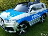 Детский электромобиль AUDI Q7- Полицейский - фото 1