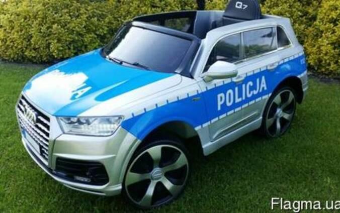 Детский электромобиль AUDI Q7- Полицейский