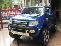 Детский электромобиль Ford Ranger F-150. Автопокраска синяя