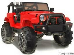 Детский электромобиль jeep hellcat: - красный