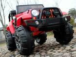 Детский электромобиль jeep hellcat: - красный - фото 2
