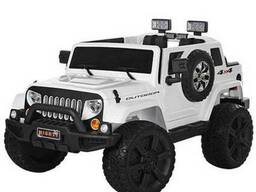 Детский электромобиль JEEP M 3445 EBLR-1- Белый