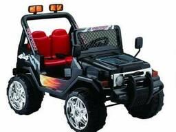 Детский электромобиль Jeep S618B- Черный