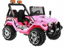 Детский электромобиль Jeep S618B- Розовый - фото 1