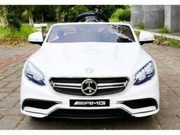 Детский электромобиль Mercedes Benz S63. Автопокраска белая