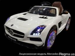 Детский электромобиль Mercedes-Benz SLS SX812. Лак белый