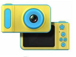 Детский фотоаппарат с записью видео и цветным экраном dvr baby camera V7 голубой. ..