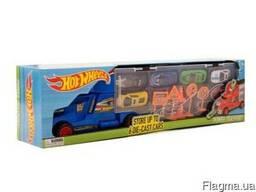 Детский грузовик с машинками Hot Wheels Trailer
