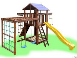 Детский игровой комплекс с качелями и рукоходом