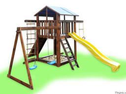 Детский игровой комплекс с качелями, игровая площадка