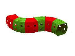 """Детский Игровой тоннель """"Тоннель 6 секций"""" Doloni TOYS (Красно-зеленый) (01472/3)"""