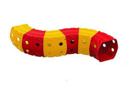 """Детский Игровой тоннель """"Тоннель 6 секций"""" Doloni TOYS (Красно-желтый) (01472/2)"""