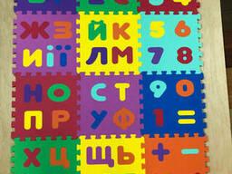 """Детский коврик-пазл """"Абетка"""" набор 12 штук из EVA 1, 08 м2"""