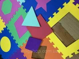 """Детский коврик-пазл """"Мозаика"""" набор 12 штук из EVA 1, 08 м2"""