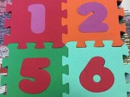 """Детский коврик-пазл """"Веселая математика"""" набор 16 штук из EVA 0, 27 м2"""