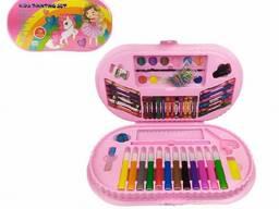 Детский набор для творчества MK 3918-1 в чемодане (Единорог с девочкой)