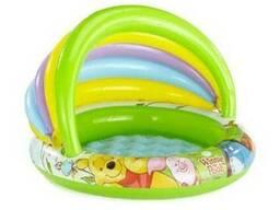 Детский надувной бассейн с навесом винни пух intex 57424