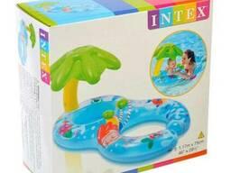 Детский плотик надувной Intex с навесом (56590)