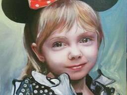 Детский портрет маслом по фото