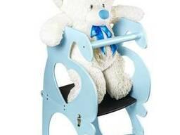 Детский столик трансформер ADV Башня Монтессори с меловой доской Голубой (ADV-TM-WBU)