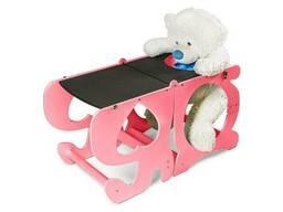 Детский столик трансформер ADV Башня Монтессори с меловой доской Розовый (ADV-TM-PK)