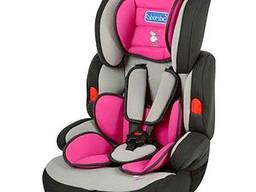Детское автокресло BAMBI Розовое для ребенка кресло в авто