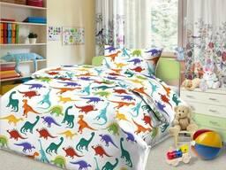 Детское постельное белье с динозаврами Дино-Пати (бязь, 100%