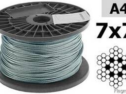 DIN 3055 нержавеющий трос 7х7 диаметр 1, 5мм