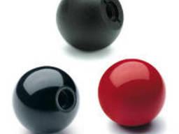 DIN 319 Ручка шаровая черный пластик