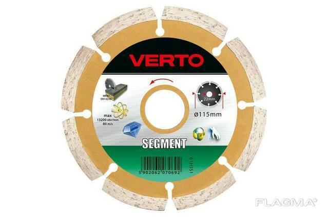 Диск алмазный Verto - 115 мм сегмент
