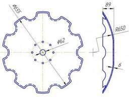 Диск бороны АГ, АГД, УДА (наружн. диаметр 655мм. и 510мм. )