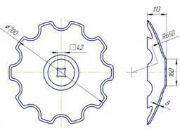 Диск бороны БДТ-4, 2 наружный диаметр 700 мм