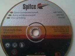Диск, круг абразив шлифовал по металлу Spitce 230х6,3х22мм