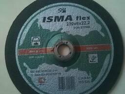 Диск, круг абразивный шлифовальный по камню Isma 230х6х22мм