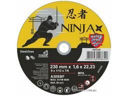 """Диск відрізний по металу та нержавіючій сталі Ninja ТМ """"Virok"""" Ø=230х22. 23 мм t=1. 6 мм"""