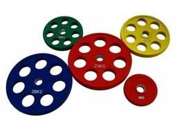 Диски олимпийские обрезиненные ALEX 1. 25 - 2. 5 - 5-10 - 15 - 20 - 25кг