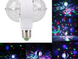 Диско лампа двойная вращающаяся Led Magic Ball Light