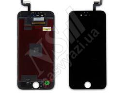 Дисплей apple iphone 6s с черным тачскрином оригинал (tw)