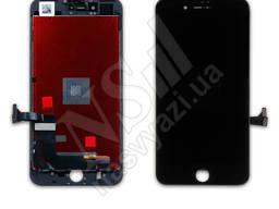 Дисплей apple iphone 7 с черным тачскрином оригинал (tw)