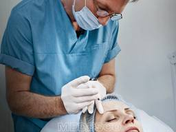 Диспорт, ботокс - устранение морщин лоб глаза гипергидроз