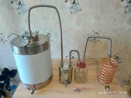 Дистиллятор 40 самогонный аппарат непроточный медный змеевик