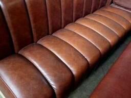Диван бу коричневый кожа для кафе, ресторана
