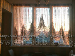 Дизайн и пошив штор на кухню