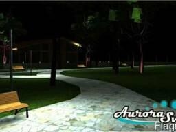 Дизайн и проектирование, ландшафтный дизайн освещения, led