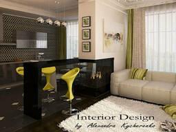 Дизайн интерьера квартир, домов, кафе, баров, ресторанов.