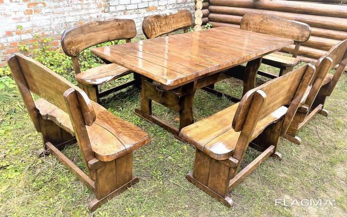 Дизайнерская деревянная мебель ручной работы из массива нату