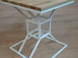 Дизайнерская табуретка, стул в стиле Лофт (Loft), массив Дуб