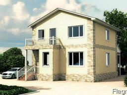 Дом 10,33 на 10м, 2 этажа, Площадь 206,6 м2. 6 комнат, 2 с/у